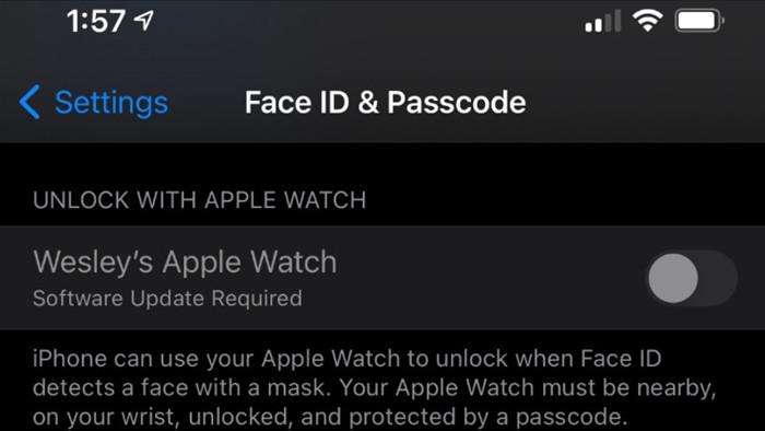 Bản cập nhật iOS 14.5 cho phép xác thực Face ID ngay cả khi đeo khẩu trang bằng cách ghép nối với Apple Watch - Ảnh 2.