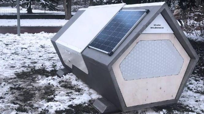 phòng ngủ dạng kén cho người vô gia cư (Ảnh: Interesting Engineering)