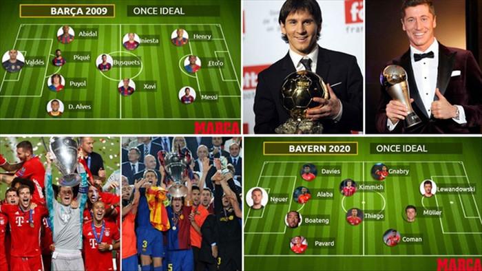So sánh sức mạnh đội hình ăn 6 vĩ đại của Barcelona và Bayern Munich - 1