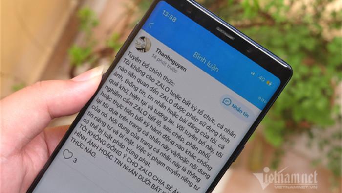 Người dùng Zalo phản đối việc thu thập hình ảnh, dữ liệu cá nhân