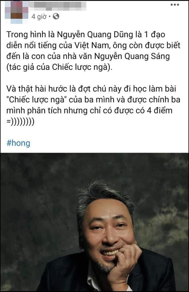 Nguyễn Quang Dũng nhận điểm 4 khi phân tích tác phẩm văn học của bố ruột?-1