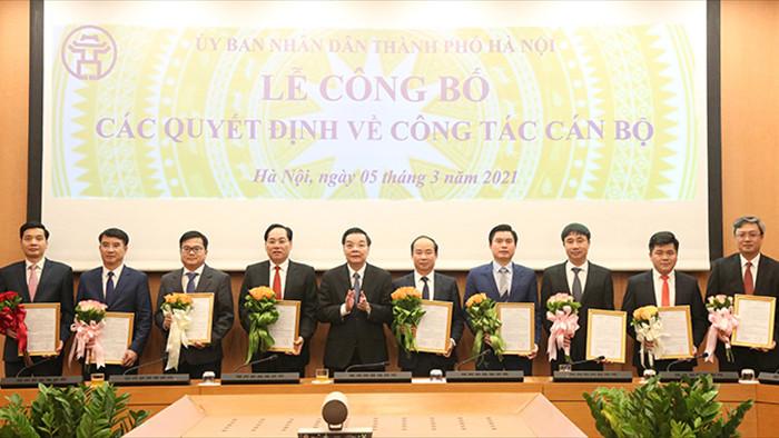 Hà Nội điều động, bổ nhiệm hàng loạt lãnh đạo sở ngành, quận huyện
