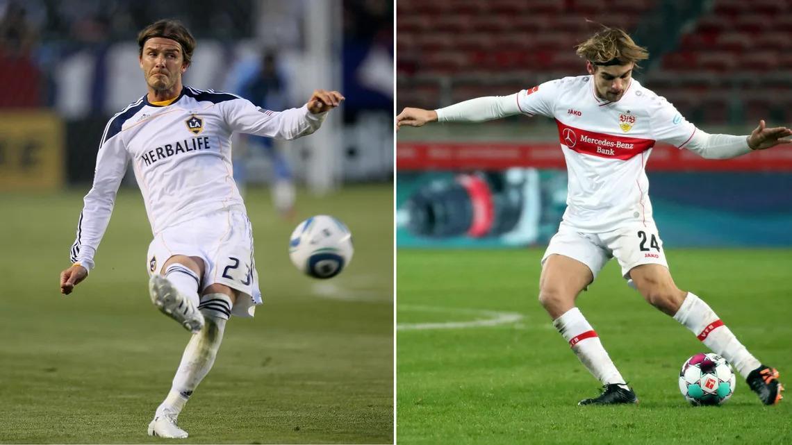 Borna Sosa: 'David Beckham' của Bundesliga - 1