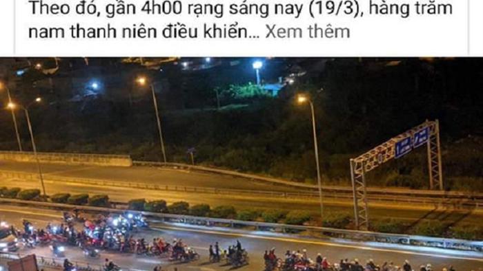 Lên facebook khoe chiến tích tổ chức chặn cao tốc làm đường đua - 1