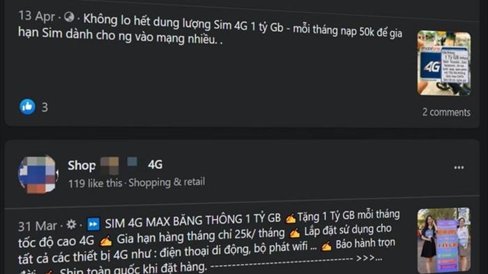 Lừa đảo bán sim 4G 1 tỷ GB giá siêu rẻ