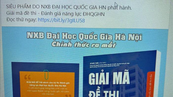 ĐHQG Hà Nội không xuất bản sách luyện thi đánh giá năng lực đang lan truyền