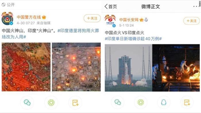 Cơ quan Trung Quốc gây phẫn nộ vì mỉa mai thảm họa COVID-19 Ấn Độ - 1