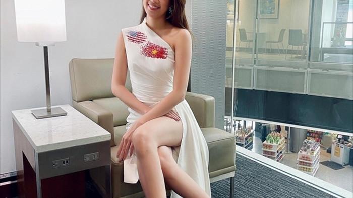 Hoa hậu Khánh Vân và 'chiến thuật váy áo' thông minh khi sang Mỹ - 4