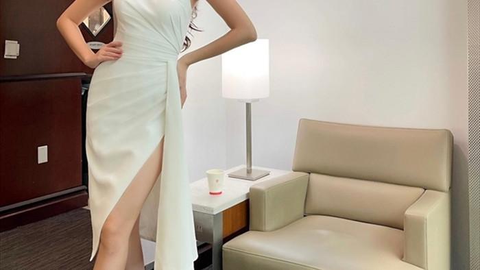 Hoa hậu Khánh Vân và 'chiến thuật váy áo' thông minh khi sang Mỹ - 3