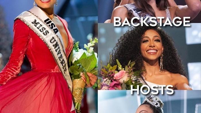Khánh Vân nổi bật trong dàn Hoa hậu Hoàn vũ 2020