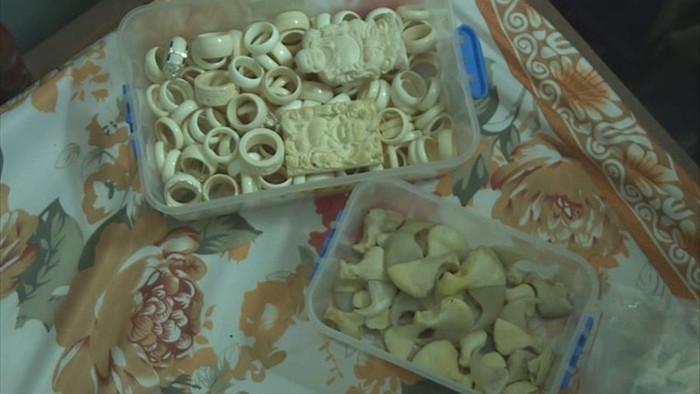 Ngang nhiên bày bán hàng trăm sản phẩm trang sức bằng ngà voi - 2