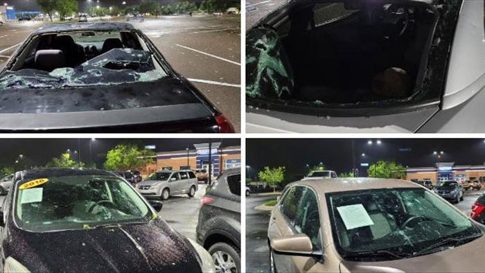 Hoảng hồn với chùm ảnh về trận mưa đá kinh hoàng tại Mỹ, nhà cửa, ô tô thủng lỗ chỗ vì thành bia tập bắn của thiên nhiên - Ảnh 13.