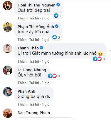 Hồng Nhung, Tăng Thanh Hà kinh ngạc ngoại hình con trai Quang Dũng-3