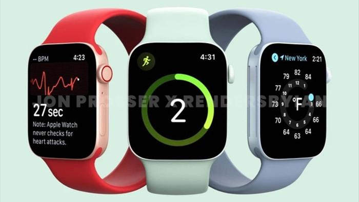 Apple Watch Series 7 lộ thiết kế hoàn toàn mới - 1