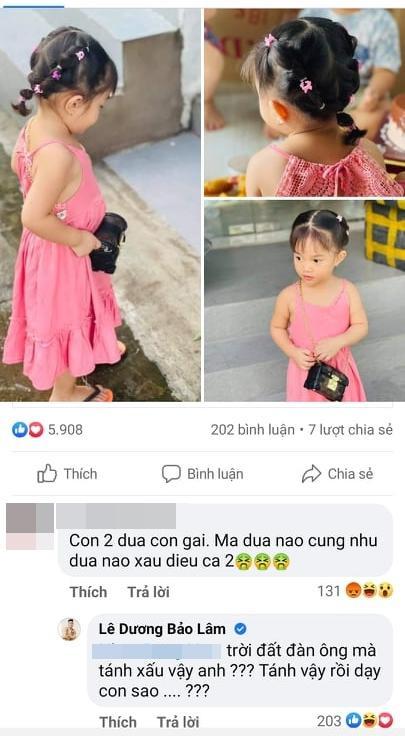 Lê Dương Bảo Lâm nổi đóa khi 2 con gái bị chê xấu đều-1