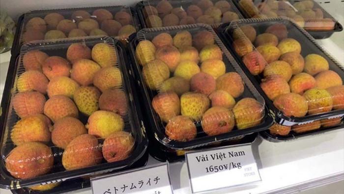 Bay thẳng qua Nhật, vải thiều Việt Nam lên kệ siêu thị 500 nghìn/kg