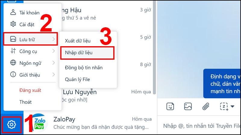 Hướng dẫn khôi phục tin nhắn Zalo