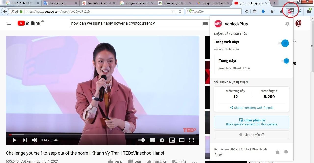 Hướng dẫn chặn quảng cáo YouTube trên PC