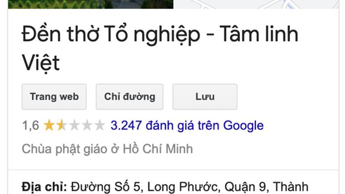 Đền thờ Tổ nghiệp của NS Hoài Linh trên ứng dụng Google Maps bị đổi tên thành Trung tâm từ thiện 14 tỷ? - Ảnh 4.