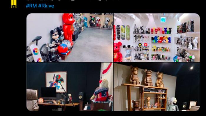 RM thường xuyên chia sẻ hình ảnh về bộ sưu tập của mình lên Twitter
