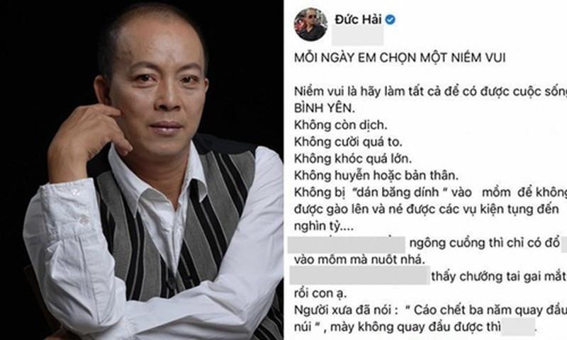 NSƯT Đức Hải khẳng định không bị hack Facebook mà do con nuôi nghịch, cư dân mạng: Lời nói lắt léo như Quang Hải đá bóng!-1