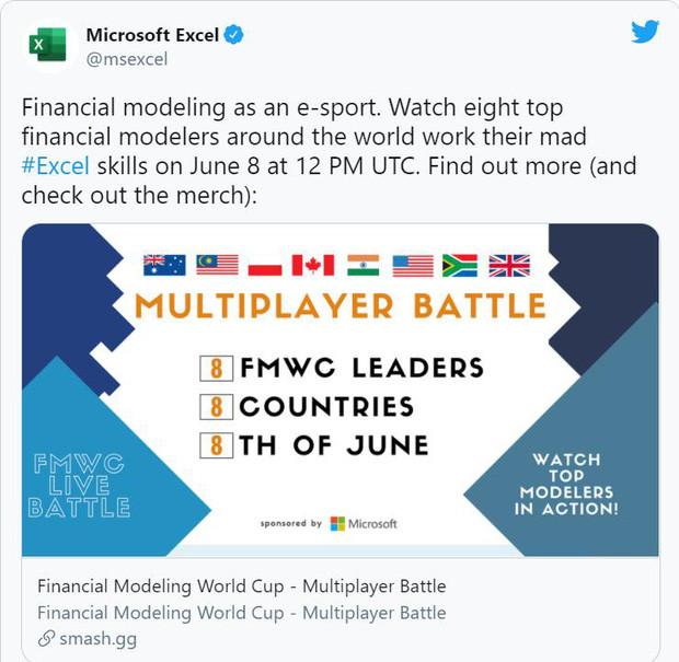 Chuyện thật như đùa: Phần mềm Microsoft Excel trở thành bộ môn eSports được đem ra tranh tài trên toàn cầu-1