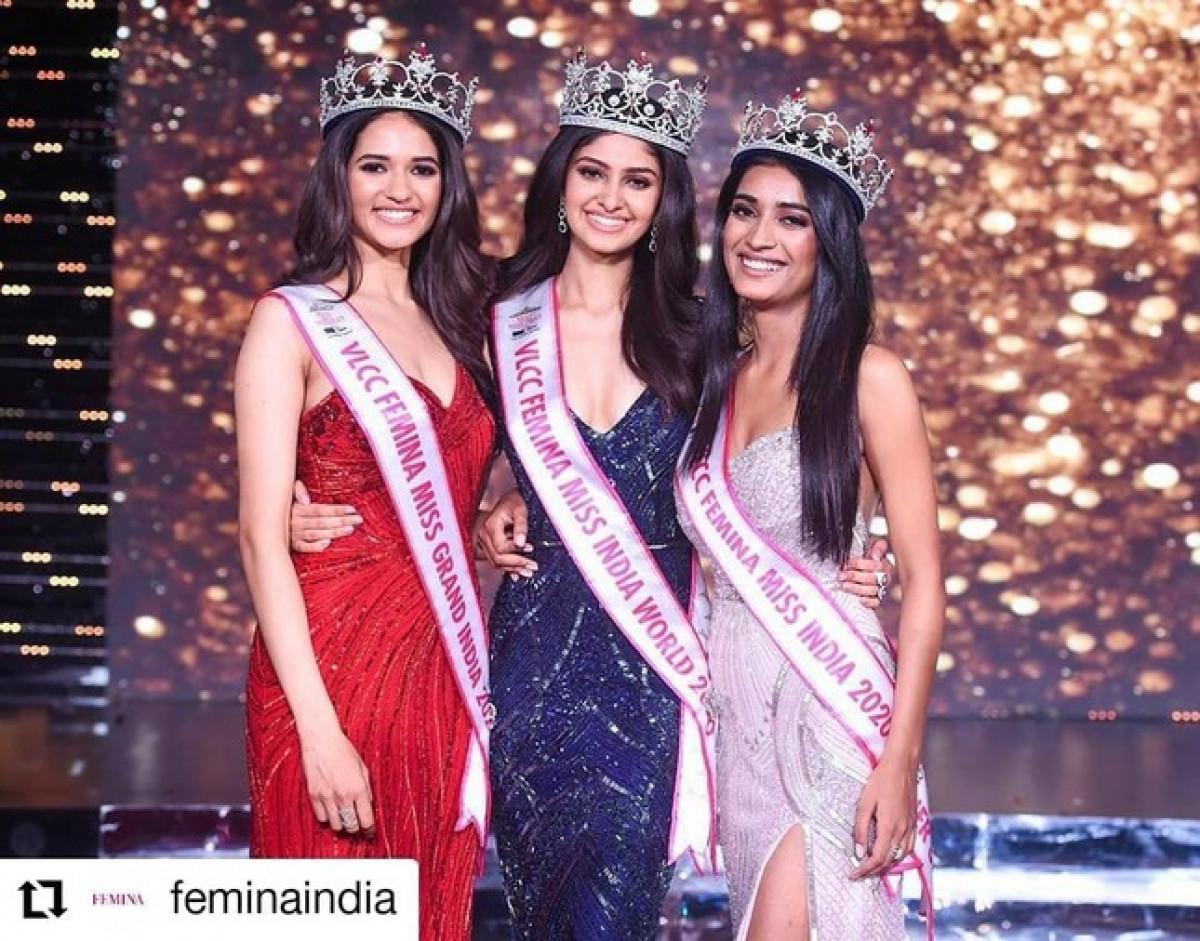 Vẻ đẹp thuần khiết của Tân Hoa hậu Ấn Độ - Đối thủ của Đỗ Thị Hà tại Miss World 2021-1
