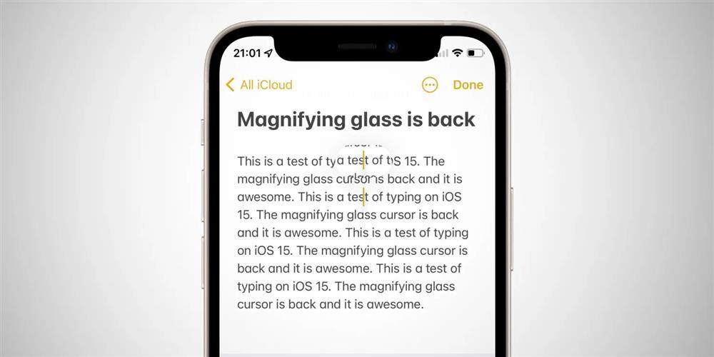 Apple khôi phục tính năng kính lúp giúp chọn văn bản chính xác hơn trên iOS 15-1