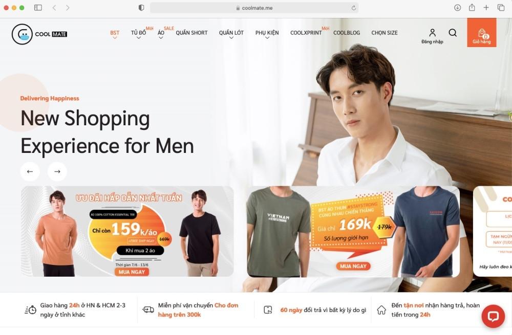 Startup bán thời trang nam giới trực truyến Coolmate được định giá 5 triệu USD-1