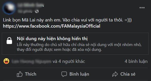 Fanpage Hiệp hội bóng đá Malaysia biến mất sau trận thua tuyển Việt Nam-2