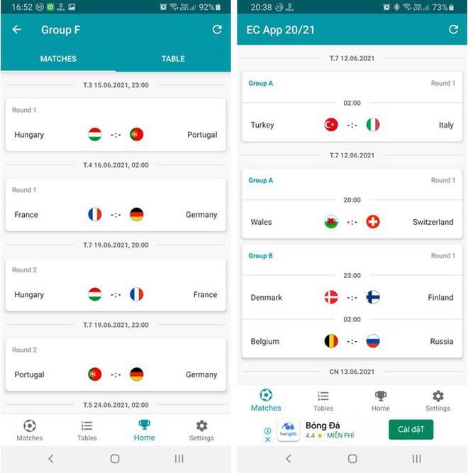 Cách xem trực tiếp các trận đấu tại Euro 2020 trên smartphone và máy tính-6