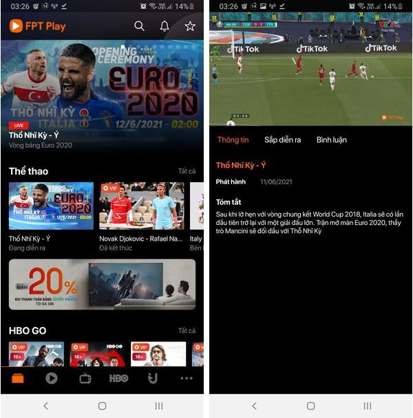 Cách xem trực tiếp các trận đấu tại Euro 2020 trên smartphone và máy tính-3