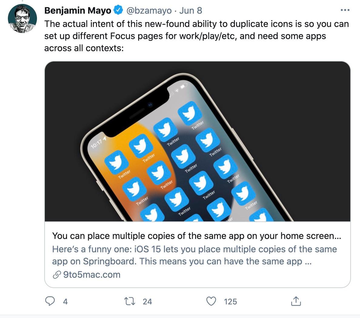 Bạn có thể tạo ra hàng loạt bản copy của một ứng dụng trên màn hình iOS 15: tưởng lỗi nhưng lại là tính năng-2