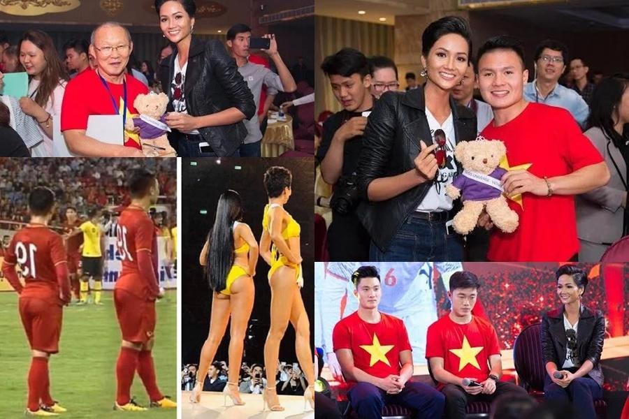 Hoa hậu Tiểu Vy hứa làm osin nếu đội tuyển Việt Nam thắng UAE-5