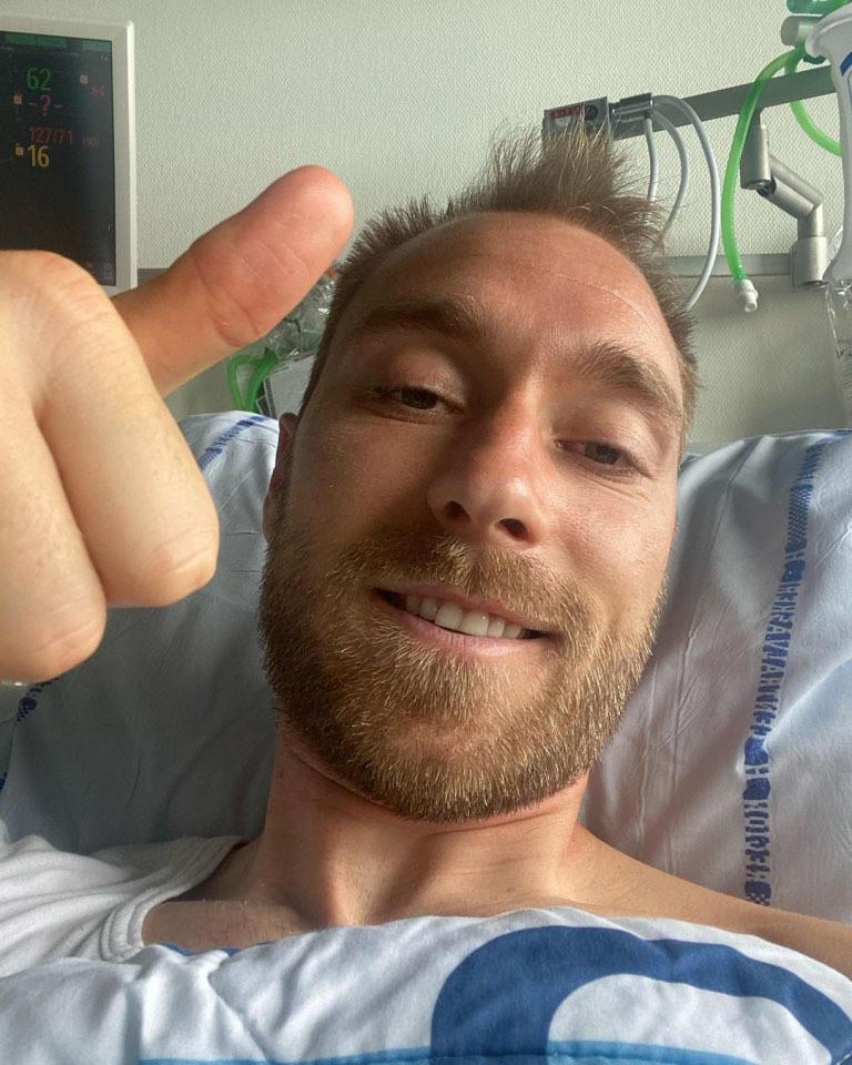 Hình ảnh đầu tiên của Eriksen từ bệnh viện: Tôi vẫn khỏe-1