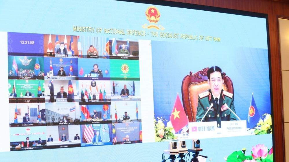 Sự tham gia đầy đủ của các nước tại Hội nghị ADMM+ lần thứ 8 thể hiện quyết tâm tập thể tiếp tục thúc đẩy hợp tác bất chấp các thách thức. (Nguồn: BQP