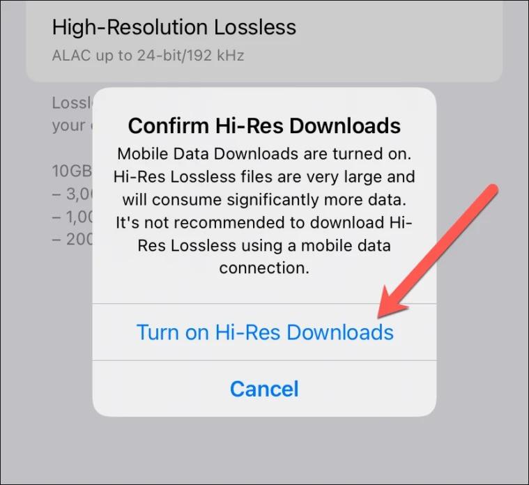 Cách kích hoạt tính năng nghe nhạc chất lượng cao trên iPhone-6