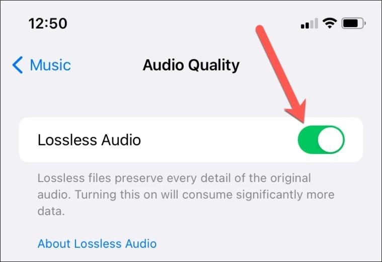 Cách kích hoạt tính năng nghe nhạc chất lượng cao trên iPhone-4