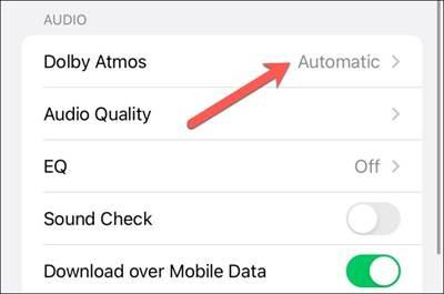 Cách kích hoạt tính năng nghe nhạc chất lượng cao trên iPhone-8