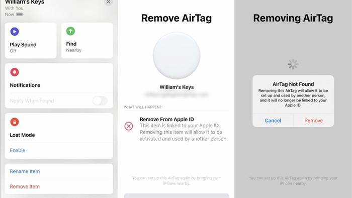 Cách đặt lại AirTag trước khi tặng hoặc bán thiết bị-2