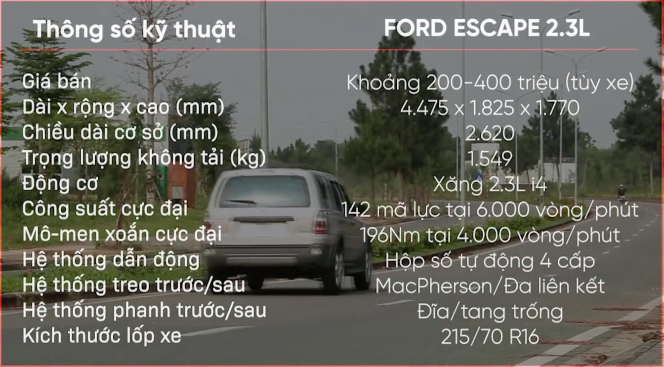 Ford Escape 2007 giá 200 triệu, ngốn xăng nhưng bền bỉ-5
