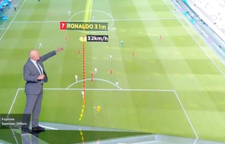 Ronaldo đạt vận tốc bao nhiêu trong pha bứt tốc ghi bàn vào tuyển Đức?-1