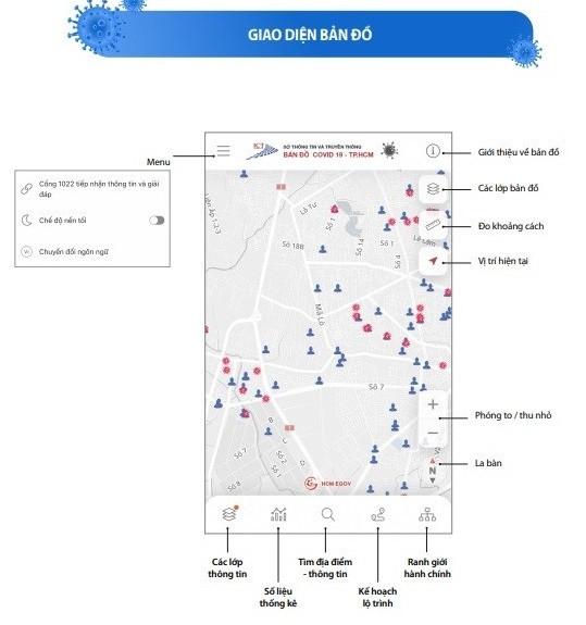 TP.HCM cập nhật bản đồ giúp người dân tìm đường tránh nơi có nguy cơ lây nhiễm-1