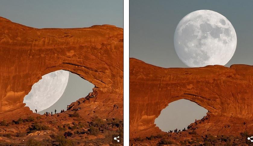Khoảnh khắc đặc biệt: Trăng khổng lồ hóa thành mống mắt-2