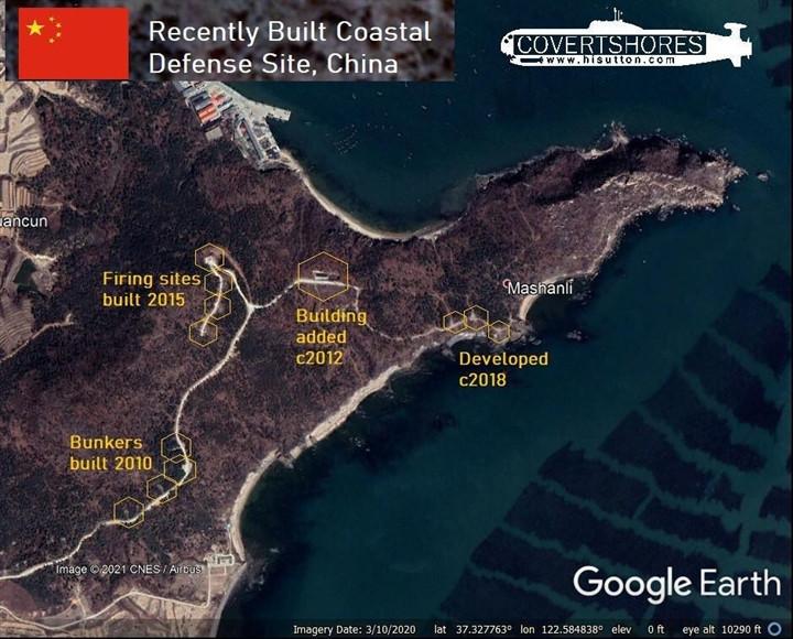 Hình ảnh vệ tinh cho thấy Trung Quốc xây dựng hệ thống tên lửa phòng thủ bờ biển-1