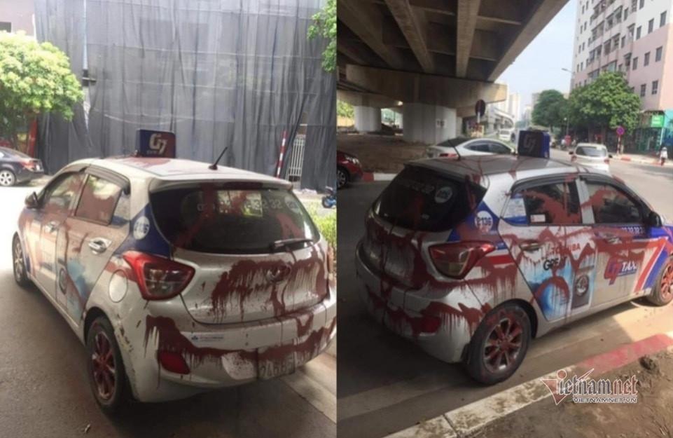 Hành vi tạt sơn lên taxi ở Linh Đàm có thể bị phạt tù đến 20 năm-1