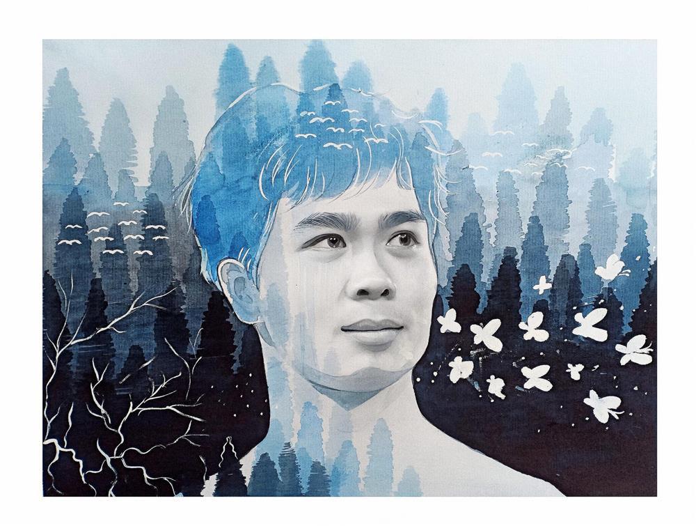 Chân dung các tuyển thủ Việt Nam qua bộ tranh vẽ bằng cà phê của chàng trai 9X-4