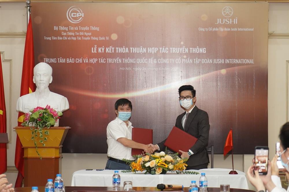 Ký kết thỏa thuận hợp tác truyền thông giữa Trung tâm Báo chí và Hợp tác Truyền thông Quốc tế với  Công ty CP tập đoàn Jushi International-3