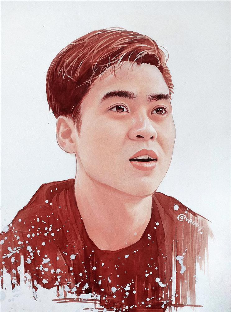 Chân dung các tuyển thủ Việt Nam qua bộ tranh vẽ bằng cà phê của chàng trai 9X-2