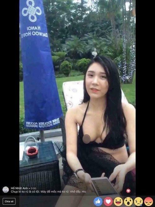 sao Việt bị lộ nội y khi livestream 8